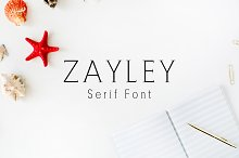 Zayley Serif Regular Font
