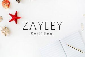 Zayley Serif Regular Font