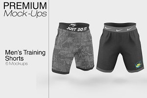 Men's Training Shorts Mockup