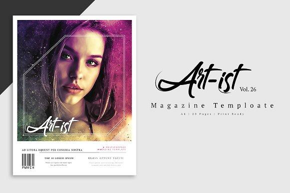 Art-Ist Magazine Template Vol.26