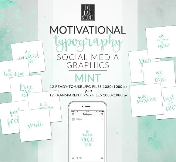 Motivational Typography MINT