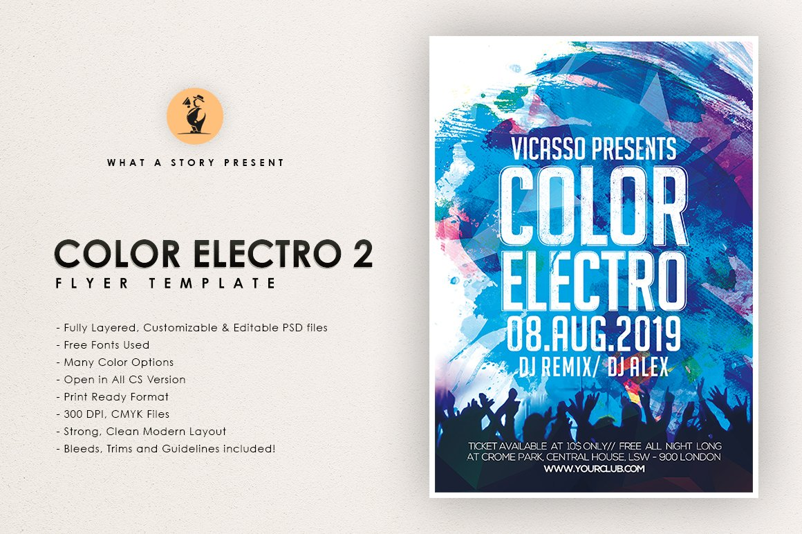 COLOR ELECTRO 2 ~ Flyer Templates ~ Creative Market