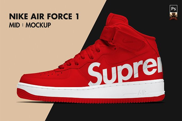 newest collection 639ae deabd Download NIKE AIR FORCE 1 Mid   Mockup
