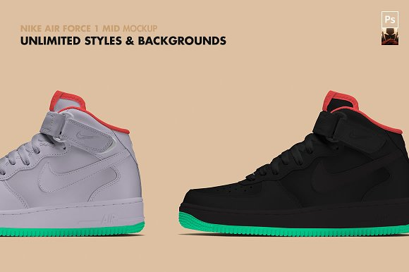 check-out d4b2f a6ac9 NIKE AIR FORCE 1 Mid | Mockup