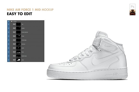 check out 30849 16cff NIKE AIR FORCE 1 Mid | Mockup