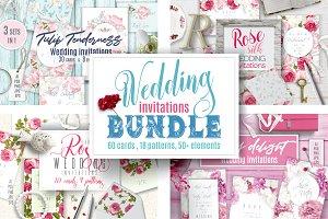Wedding invitations BUNDLE
