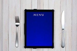 Tablet Computer Menu