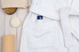 Bathrobe Soap and Luffa
