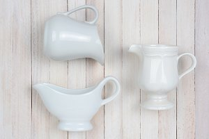 Pitchers on White