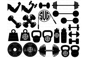 Weights SVG Files, Lifting Weights
