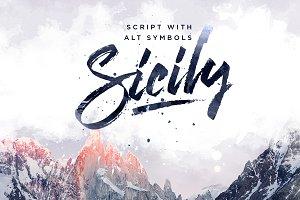 New. Sicily Script Font.