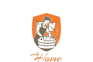 At Home Laundry Logo