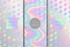 Set of chic backgrounds