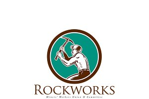 RockWorks Coal Miners Union Logo