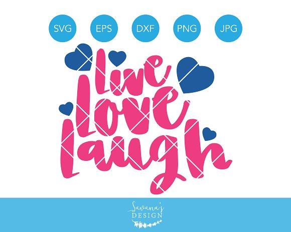 Live Love Laugh SVG Cut File Cricut