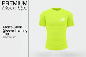 Men's Short Sleeve T-Shirt Mockup