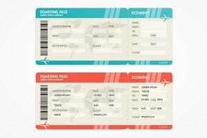 Vector Airplane tickets.