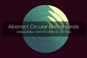 Abstract Circular Backgrounds