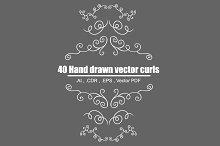 Hand Drawn Decorative Curls (vector)