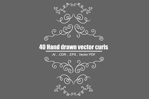 Hand Drawn Decorative Curls (vector)