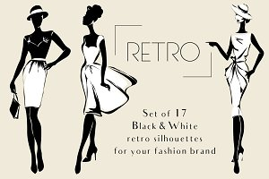 Retro Fashion Silhouettes