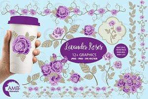 Lavender Roses Clipart 1030