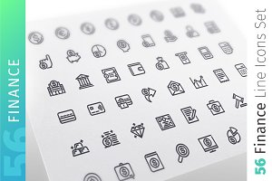 Finance Line Icons Set