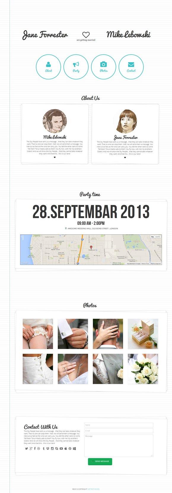 Minimal Wedding Invitation Template Websites