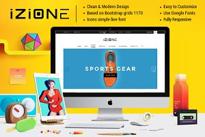 izione - Ecommerce PSD Template