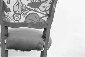 French Vintage Chair in Black White