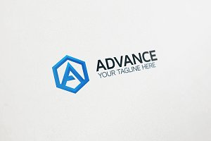 A Letter Logo - Advance Tech Logo