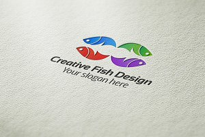 Creative Fish Design Logo