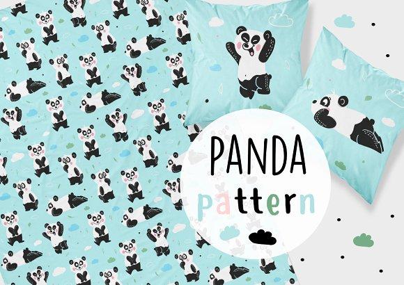 Pandas Pattern Fabric Pattern