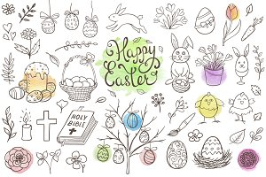 Easter Doodles Design Kit
