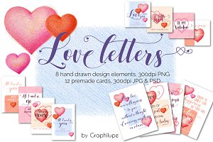 Love Letters - Illustration Kit