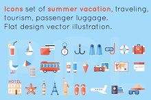 Summer vacation, traveling, tourism.