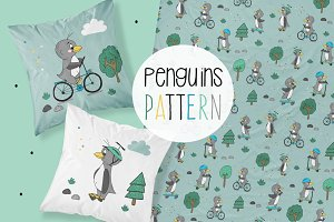 Penguins pattern - fabric pattern