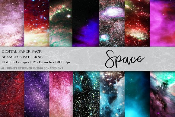 Space Background Digital Paper
