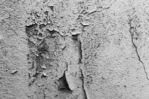 Peeled and Cracked Wall Black White