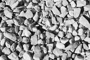 Gravel Background in Black and White