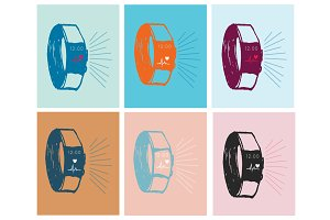 Fitness Tracker Vector Illustration