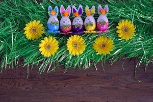 Handmade eggs-bunny.