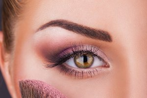Close-up fashion make-up