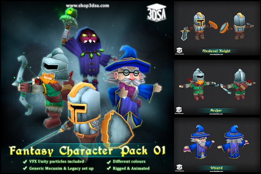 Fantasy Character Pack 01 ~ Fantasy Characters ~ Creative Market