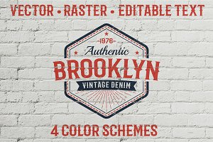 Authentic Vintage Logo Template