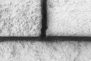 Ancient Stone Wall Black and White