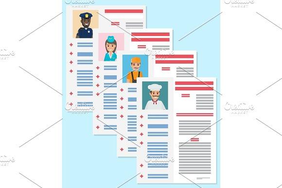 Career Information Leaflet Flat Vector Concept