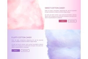 Sweet Fluffy Cotton Candy Advertisement Banner