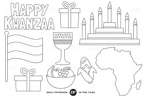 Kwanzaa Digital Stamps