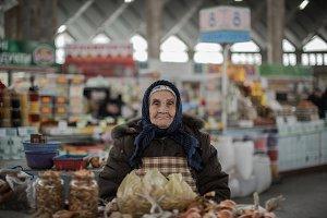 Older women selling produce